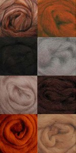 Wool Roving Earth  W856R