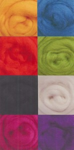 Wool Roving Assorted Brights W850R