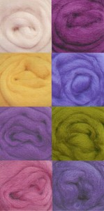 Wool Roving Assorted Pastels W851R