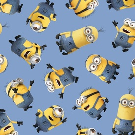 One in a Minion Blue Tossed Minions