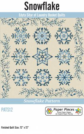 Snowflake pattern PATS12 by Laundry Basket Quilts