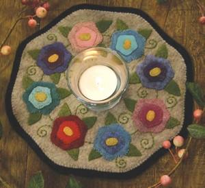 Penny rug kit Flowers BR139K