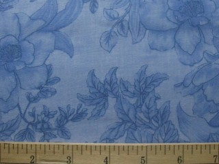 Wide Backing Placid Blue Floral 302