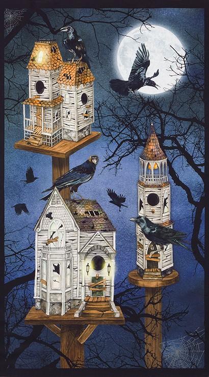 Raven Moon panel 18483-282 Spooky