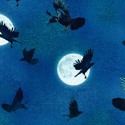 Raven Moon ravens at night 18485-282