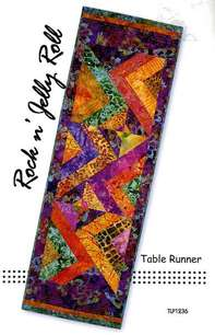 Rock and Roll Jelly Roll Runner pattern