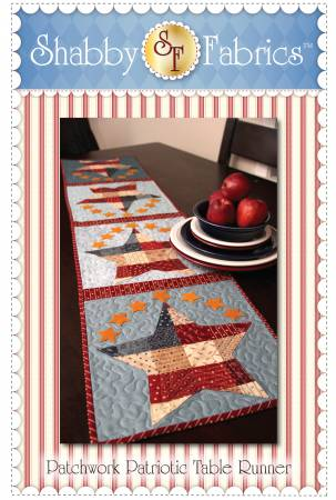 Shabby Fabrics Patriotic Patchwork Table Runner 48572