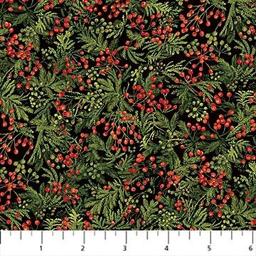 Santa Helpers Greenery by Northcott DP23541-76