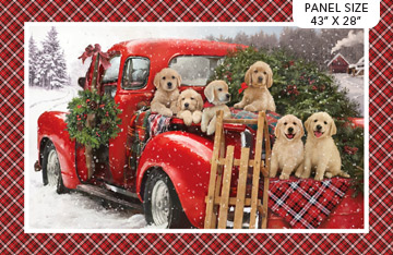 Santa Helpers Panel by Northcott DP23537-24