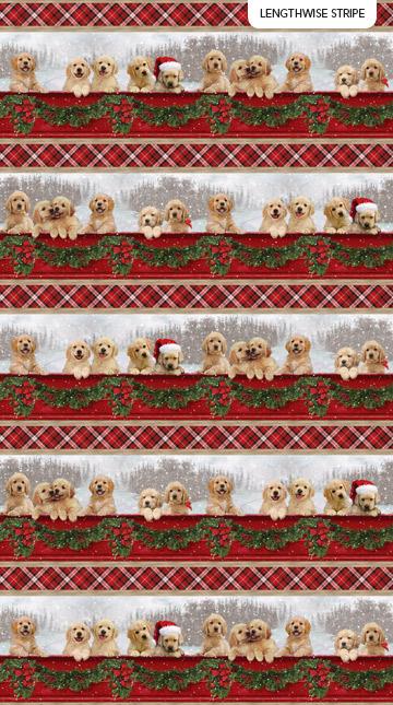 Santa Helpers Stripe by Northcott DP23538-24