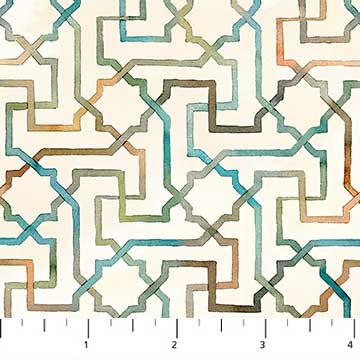 Shore Thing White Interlocking Design 22073-11