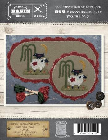 Simply Scalloped June mat sheep BMB 1527