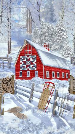 Snow Country panel by Timeless Treasures