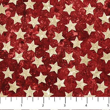 Stars and Stripes red with cream stars 39101-24