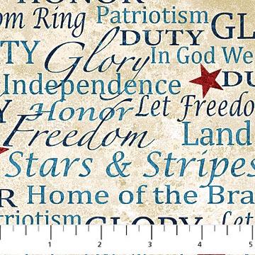 Stars and Stripes Stonehenge words 39195-30