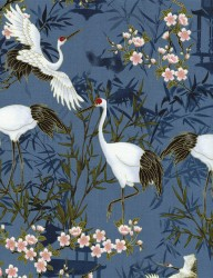 Timeless Treasures Cranes in blue CM1644