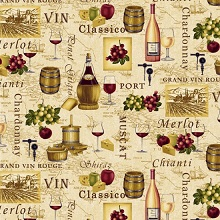 Tuscany Wine Types Tan 8475-44