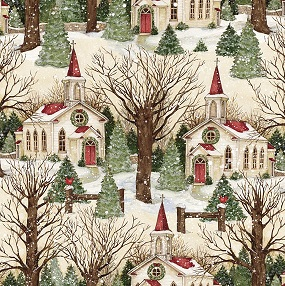 Winter Church Scenic by Springs Creative