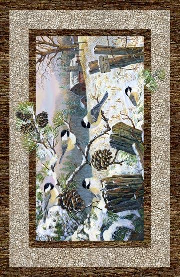 Winter Chickadee Panel 22244-12