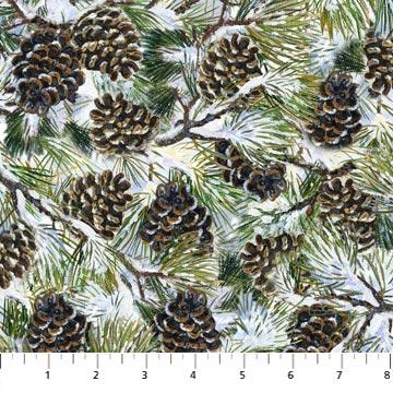 Winter Chickadee tossed pinecones 22247-12