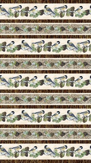 Winter Chickadee Stripe 22245-12
