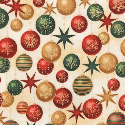 Winter's Grandeur 6 ornaments SRKM-17327-223