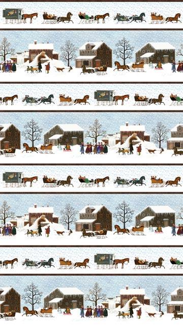 Chalres Wysocki WInter Village Stripe 22377-41