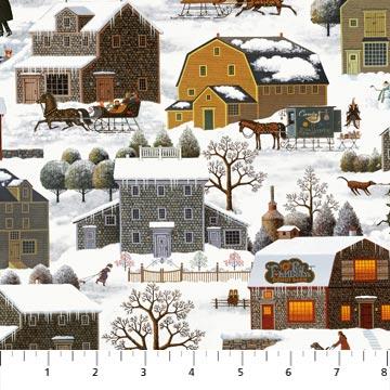 Charles Wysocki Winter Village houses 22374-10