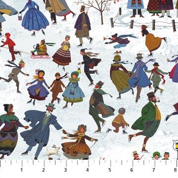 Charles Wysocki Winter Village skaters 22376-44
