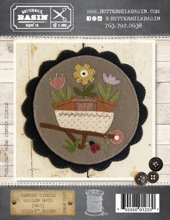 Woolen Mat May pattern BMB 1550 flower cart