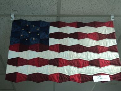 American Flag Tumbler Quilt Kit