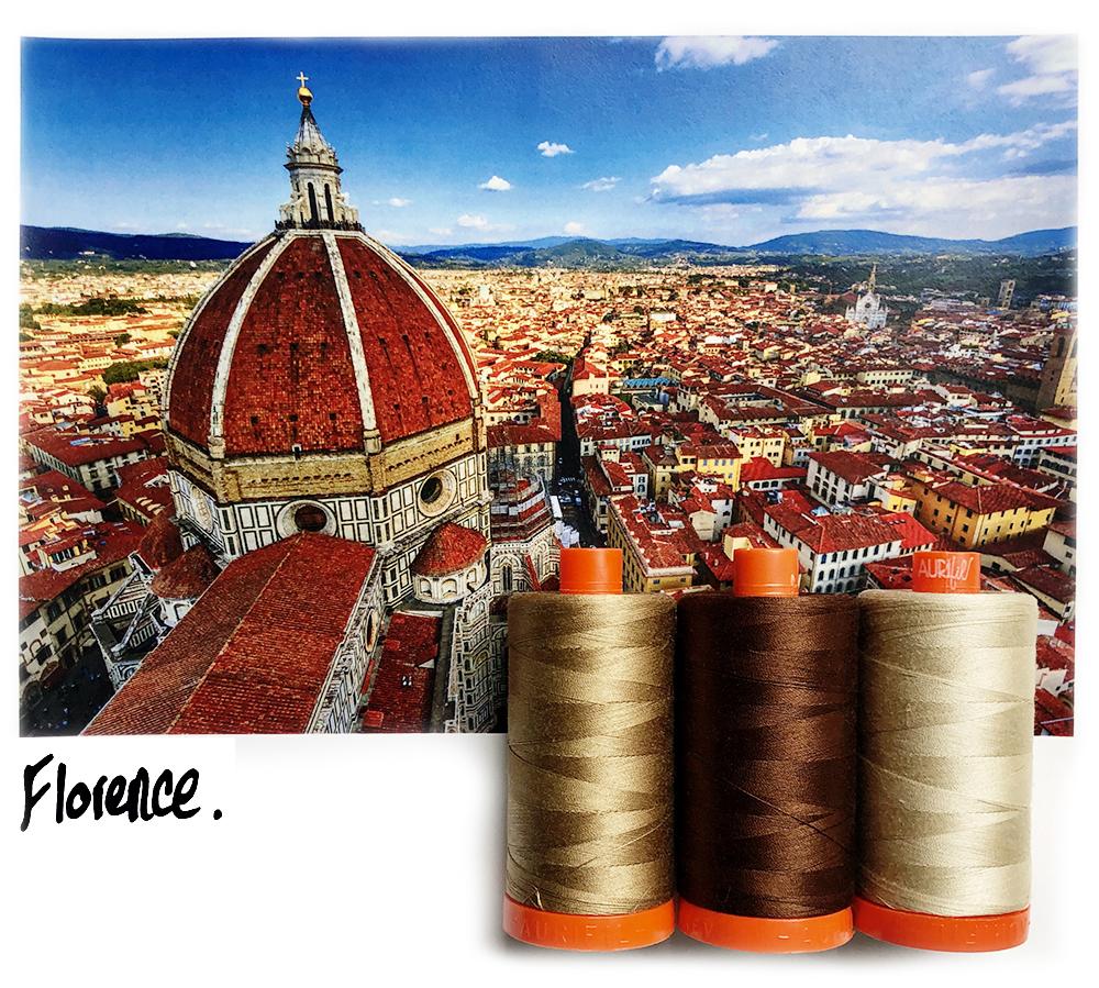 Aurifil Thread Pack Florence Brown