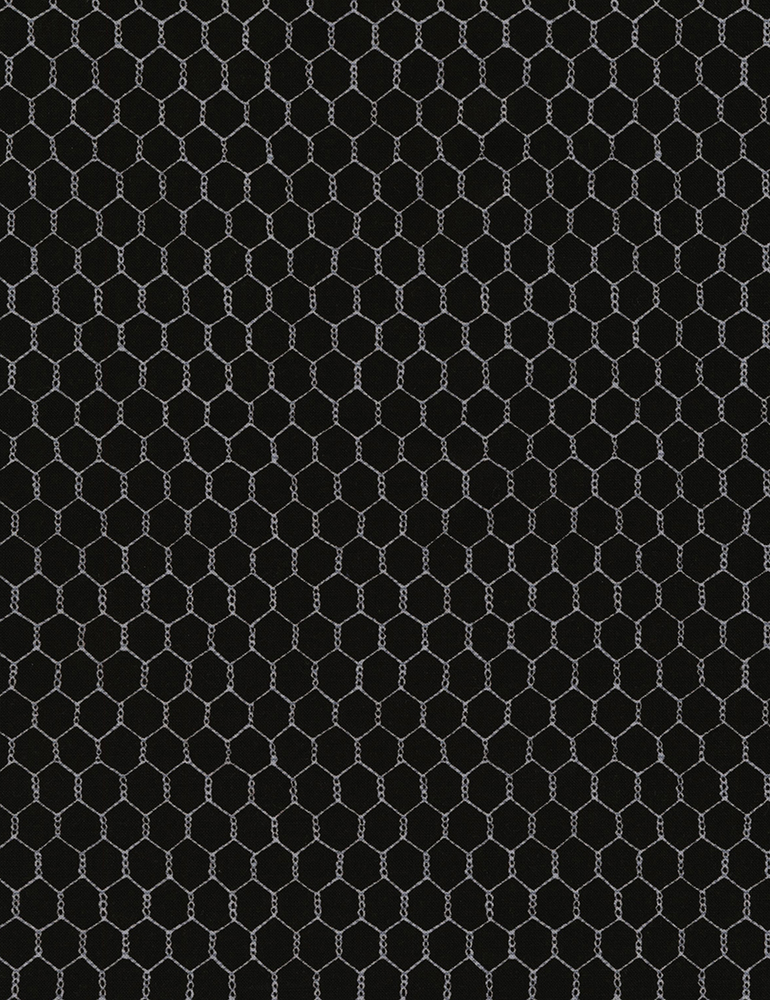 Chicken Wire by Timeless Treasures C5606 Black