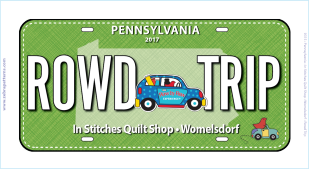 2017 Row by Row Collectors License Plate
