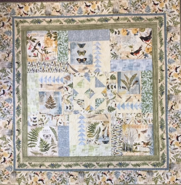 Forest Study Collage Quilt Kit
