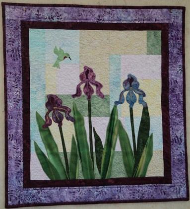 Bearded Iris Wallhanging