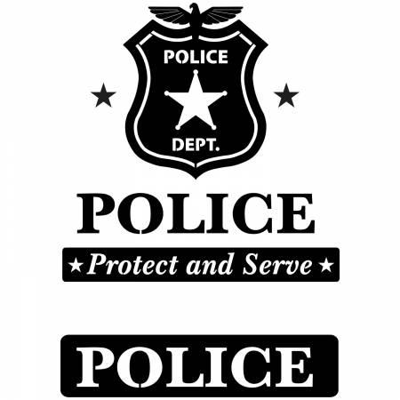 Police Laser Cut Applique Kit