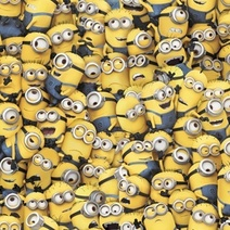 One in a Minion Yellow Tossed Minions