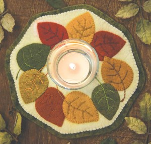 penny rug kit Fall Leaves BR147K