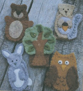 Finger Puppets Forest Friends kit