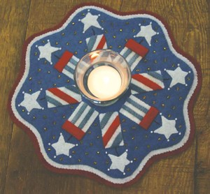 Penny rug kit Firecrackers BR144K