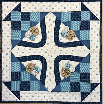 2020 Quilter's Trek True Blue Block Kit