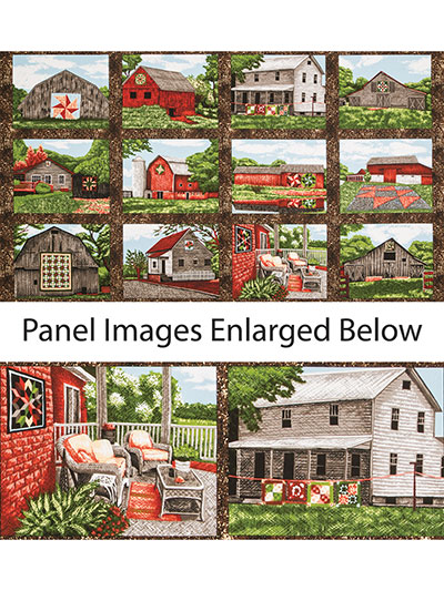 Quilt Trail Landscapes panel by Troy Fabrics