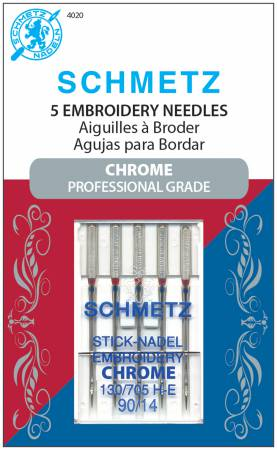 Schmetz Chrome Embroidery Needles 90/14