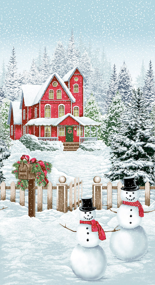 Snow Day panel by RJR Fabrics
