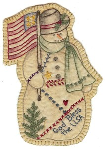 Embroidery Snowman