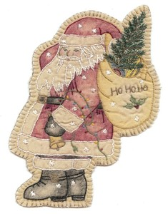 Embroidery Santa