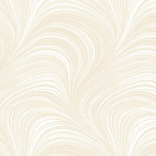 "108"" wide Cream Wave Texture by Benartex 2966-7"