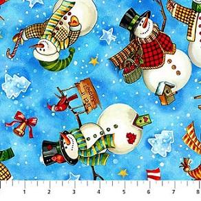 Winter Magic Tossed Snowmen 21072-42