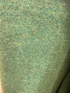 wool Medium Green Herringbone